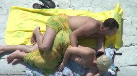 Mutual pleasure leads to sideways fucking on a beach