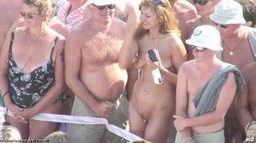 A bunch of nudists get together to show off their bodies