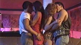 Retro-style video featuring several seductive sluts that love big dicks